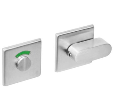 WC-sluiting 8mm vierkant plat verdekt RVS Geborsteld
