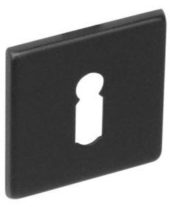 Sleutelplaatje vierkant plat verdekt RVS-mat zwart