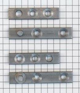 Set à stuks speunen 50 mm blank ijzer. Dikte 4 mm