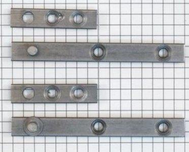 Set à stuks speunen 80 mm blank ijzer. Dikte 4 mm
