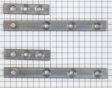 Set à stuks speunen 90 mm blank ijzer. Dikte 4 mm