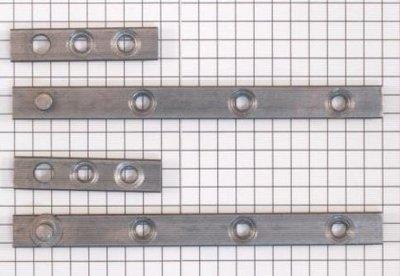 Set à stuks speunen 100 mm blank ijzer. Dikte 4 mm
