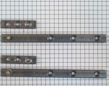 Set à stuks speunen 120 mm blank ijzer. Dikte 4 mm