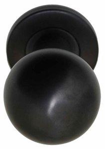 Voordeurknop BASIC LB501V Vast op Rozet PVD Gunmetal