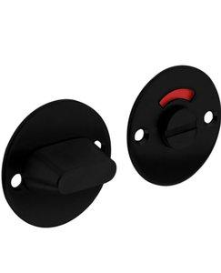 WC-sluiting 8 mm Rond Plat 50x2 mm RVS/Zwart