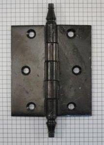 Deurscharnier 100 x 89 mm, ijzer zwart