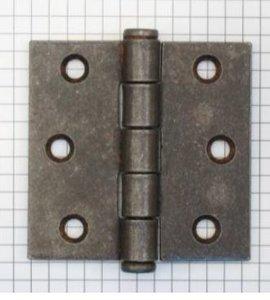 Scharnier 2.5 (63 x 63 mm) ijzer geroest met platkop