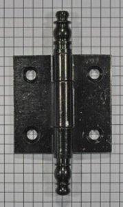 Deurscharnier 50 x 50 mm, ijzer zwart