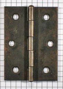 Scharnier ijzer geroest 70 x 45 mm