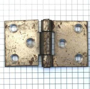 Scharnier ijzer ruw (ongelakt) 4x7 cm