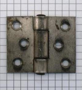 Scharnier ijzer ruw , 4x5 cm (onbehandeld)