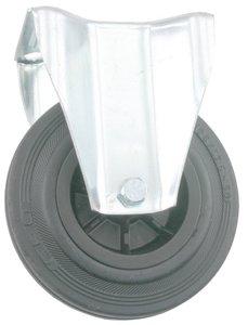 Transport Bokwiel met bevestigingsplaat 125 mm