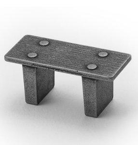 Greep Bench Mat IJzerkleur 32 mm