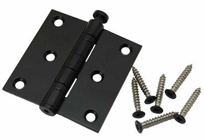 Kogellagerscharnier 76x76 mm rechte hoek zwart