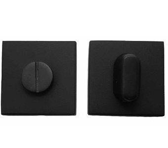 WC-sluiting Vierkant 8 mm Mat Zwart