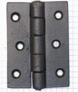 Scharnier 76 x 55 mm ijzer zwart