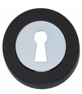 Sleutelplaatje Cali Verdekt Afgerond Chroom/Zwart