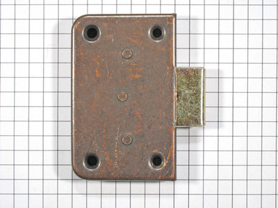 Opdekslot brons 15 mm.