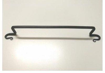 Handdoekrek 54 cm ijzer zwart