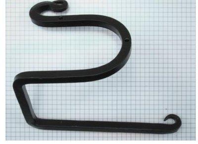 Toiletrolhouder 160 mm ijzer zwart