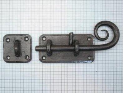 Grendel ijzer blank, grondplaat 100 x 52 mm
