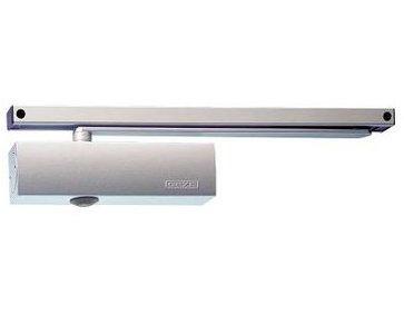 Deurdranger GEZE TS 5000 met glijrail zilverkleur