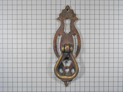 Deurgreep messing antiek met sleutelgat