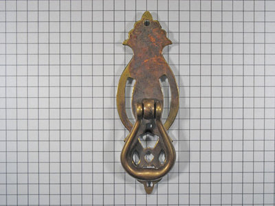 Deurgreep messing antiek zonder sleutelgat