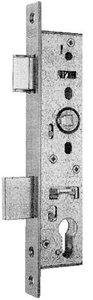 Nemef Smaldeurslot 9604/07-40 mm Rechthoekige RVS Voorplaat