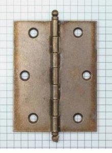 Scharnier 80 x 60 mm ijzer verbronsd met losse pen
