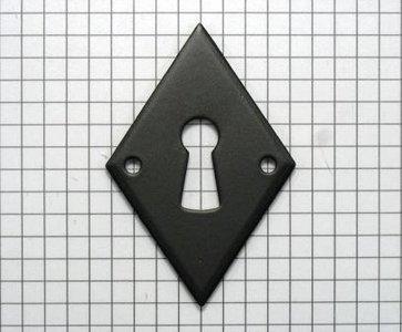 Sleutelplaat ijzer zwart, ruit