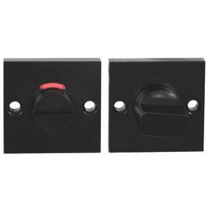 WC-sluiting 8 mm Vierkant Verdekt Aluminium Zwart