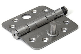 Kogellagerscharnier 89x89x3 mm ronde hoek SKG***® RVS