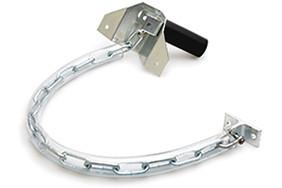 Stormketting met kettinghoes extra zware uitvoering staal verzinkt