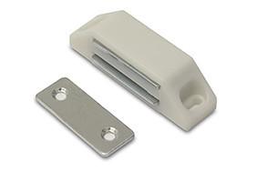 Magneetsnapper 6 kg metalen tegenplaat wit