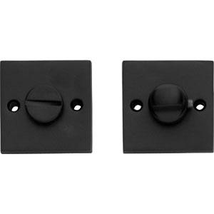 WC-sluiting 8mm  vierkant groot mat zwart