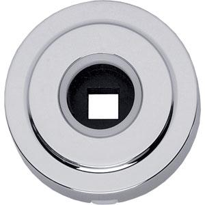 Rozet Entrata rond verdekt rand + veer 50mm chroom