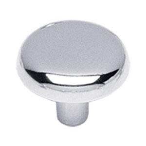 Knop plat 36 mm chroom