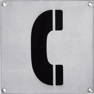 Pictogram groot telefoon rvs