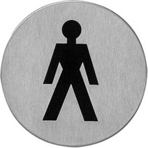 Pictogram zelfklevend rond WC heren rvs