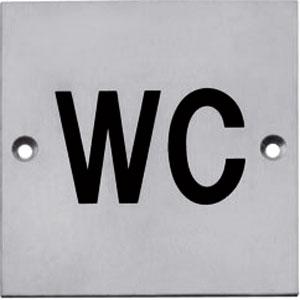 Pictogram opschroevend vierkant 76x76 WC rvs