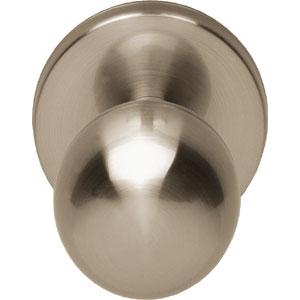 Voordeurknop bolrond 50/60 nikkel mat