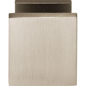 Voordeurknop vierkant nikkel mat