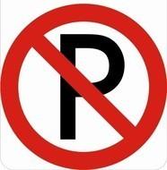 Sticker verboden te parkeren