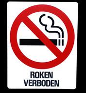 Kunststof aanduidingsbord roken verboden