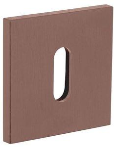 Olivari rozet vierkant met sleutelgat brons mat titaan PVD