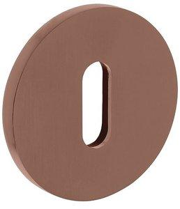Olivari rozet rond met sleutelgat brons mat titaan PVD