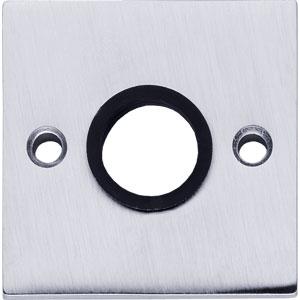 Rozet vierkant groot chroom mat