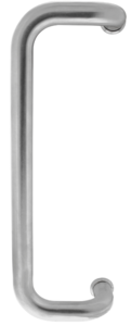 Deurgreep D-Model 375x70x25 HoH 350 mm RVS