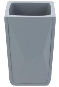 Differnz Graphic Tandenborstel/Bekerhouder Vierkant 110x70x90 mm Grijs